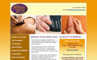 The Amber Zone website screenshot