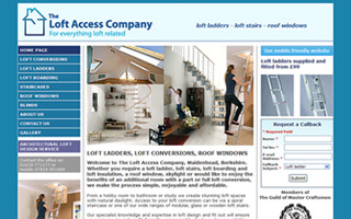 The Loft Access Company website screenshot